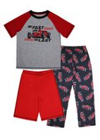 George Boys' 3-Piece Pyjama Set Red L