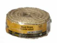 "50'X1/4"" Sisal Rope 1 Piece"