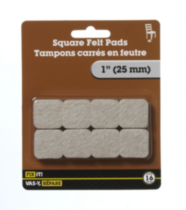 "1"" Square Felt Pad 16 Pieces"