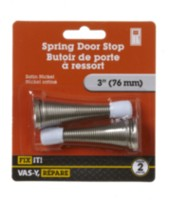 "3"" Satin Nickel Spring Door Stop 2 Pieces"