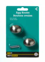 "1-1/2"" Satin Nickel Egg Knob 2 Pieces"