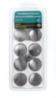 "1-1/2"" Satin Nickel Traditional Knob 10 Pieces"