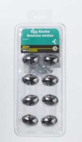 "1-1/2"" Chrome Egg Knob 10 Pieces"