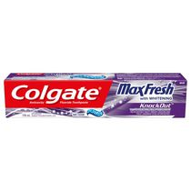 Dentifrice Colgate MaxFrais Knockout avec mini-pellicules fraîches, Menthe électrique