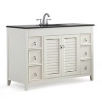 "Palmer 48"" Bath Vanity with Black Granite Top"