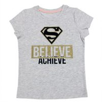 Believe Achieve - Supergirl Girls' Short Sleeve T-Shirt S