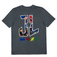 Justice League and Logos Boys' Short Sleeve T-Shirt S