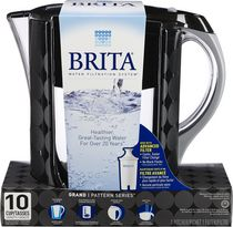 Brita® Pattern Series Grand Pitcher, Black