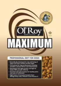 Ol'Roy Maximum Brand Dog Food 16KG