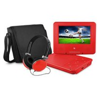 "Ematic 9"" DVD player bundle Red"