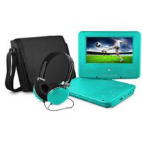 "Ematic 9"" DVD player bundle - teal"