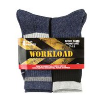 Workload Men's 4-Pair Crew Socks