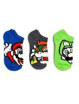 black Super Mario Bros Boys 3 pack socks