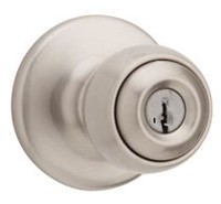 Weiser Yukon Satin Nickel Entry Door Keyed Ball Knob