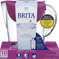 Brita® Pacifica Water Filtration Pitcher, Berry, 10 Cup