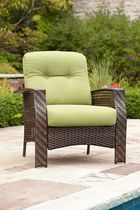 hometrends Tuscany Wicker Lounge Chair Green