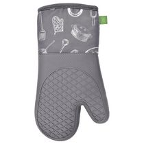 Safdie & Co. Oven Mitts Silicone Printed 2PK Grey