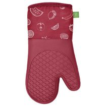 Safdie & Co. Oven Mitts Silicone Printed 2PK Red