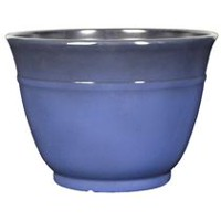 "hometrends Decorative 16"" Plastic Planter Blue"