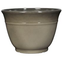 "hometrends Decorative 16"" Plastic Planter Grey"