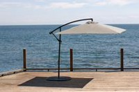 "hometrends 8'3"" X 8'3"" Suspended Canopy Square Offset Umbrella Taupe"