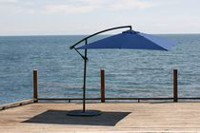 "hometrends 8'3"" X 8'3"" Suspended Canopy Square Offset Umbrella Navy"