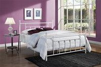 DHP Manila White Metal Bed