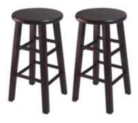 "Winsome Trading Inc. Set of 2, 24"" Counter Stool, Square Legs"