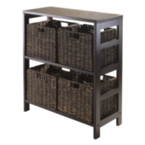 Winsome Trading Inc. Granville 5 Piece Storage Shelf with 4 Foldable Baskets