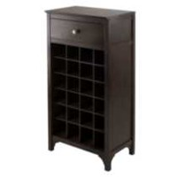 92738- Ancona Modular Wine Cabinet with One Drawer & 24-Bottle