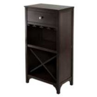 92745- Ancona Modular Wine Cabinet with One Drawer, Glass Rack, X Shelf
