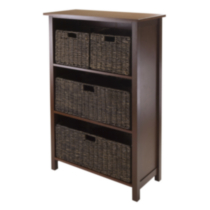 94538- Granville 5pc storage shelf with 4 baskets