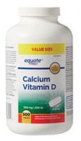 Equate Calcium Vitamin D 500 mg / 200 IU Tablets, Value Size