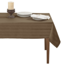 Decolin Canada Inc. Striiped Microfiber Tablecloth Beige/bisque 132 cm x 178 cm