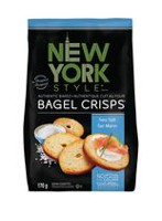 New York Style Authentic Sea Salt Baked Bagel Crisps
