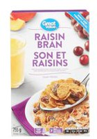 Great Value Family Size Raisin Bran