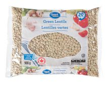 Lentilles vertes Great Value