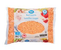 Lentilles rouges Great Value