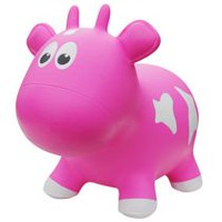Farm Hoppers Animal Bouncers Cow, Pink