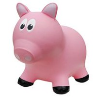 Farm Hoppers Animal Bouncers Pig, Pink