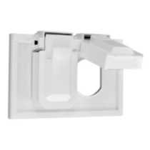 1-Gang Weatherproof Duplex Cover Receptacle, in white
