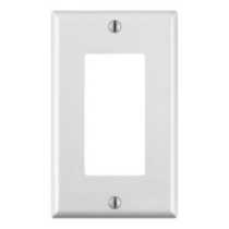 Decora 1-Gang Wallplate, in White