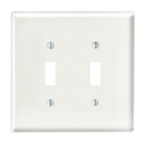 Plaque murale simple pour prise double - blanc White on