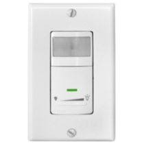 IllumaTech Universal Occupancy Sensor and Dimmer for Dimmable LED, CFL and Incandescent or Halogen Lamps, in White