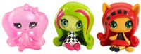Monster High Minis Getting Ghostly Draculaura, Circus Ghouls Venus McFlytrap and Original Ghouls Toralei Figures, 3-Pack