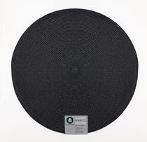 "Home Trends 15"" round woven placemat Black"