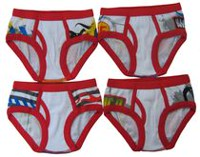 Disney Boys Cars 4 Pack Briefs 4T