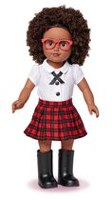 My Life As 18-inch African American School Girl Doll