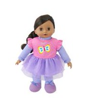 My Sweet Baby 16-inch Toddler Doll African American - Purple Outfit