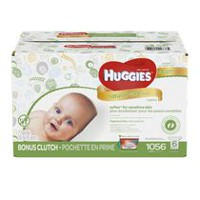 HUGGIES® Natural Care Fragrance Free Baby Wipes with BONUS CLUTCH